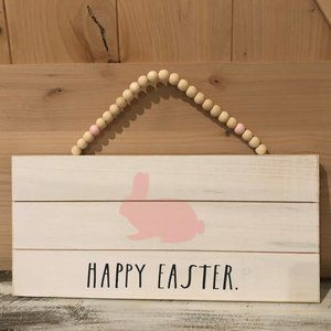 Rae Dunn Easter Bunny Wall Plaque